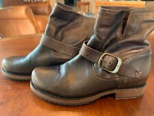 FRYE Veronica Short Slouch Boots Womens Size 7 Brown Leather