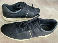 ECCO Soft Leather Black Casual Comfort Sneakers Shoes Size EU 43 / US 9.5-10 M