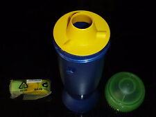 Tupperware Trinkrakete -Trinkflasche mit Tragegurt -blau/hellgrün- 650 ml - NEU