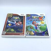 Super Mario Galaxy 1 and 2 (Nintendo Wii) Game Lot No Manuals