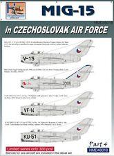 H-Model Decals 1/48 Mikoyan MiG-15 in CzAF, Pt.4 # 48018