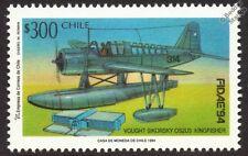 Vought Sikorsky OS2U-3 Martín hidroavión/Hidroavión Avión sello 1994 Chile