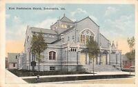Indianapolis Indiana~First Presbyterian Church~Neighborhood~1916 Postcard