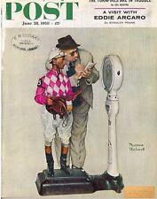 The Saturday Evening Post June 28 1958 Norman Rockwell Jockey Vintage Americana