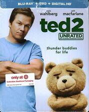 Ted 2 Target Blu-ray & DVD Steelbook Unrated (Blu-ray, 2015) SEALED