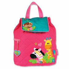 NEW Quilted Wild Zoo Backpack Girls Kids Bag Childs Pink Rucksack Stephen Joseph