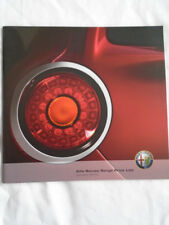 Alfa Romeo price list brochure Jan 2010