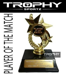 1x PLAYER OF THE MATCH Trophy DANCE Award 130mm Sport Medal FREE ENGRAVING