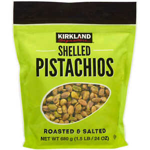 Kirkland Signature Shelled Pistachios Roasted & Salted 24 oz