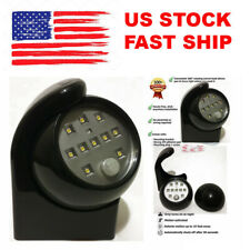 Black Motion Sensor LED Night Light Cordless Battery-Powered Indoor/Outdoor NEW
