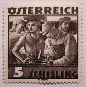 Austria 1934 Costumes 5s Brown-black Original gum MM. (€60 for UMM). Crease