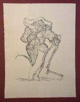 Horst Janssen, gedacht wie Zeichnung, 1964, Radierung aus dem Nachlass