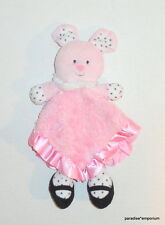 Baby Starters Pink Bunny Security Blanket Polka Dots White Black Rattle P40