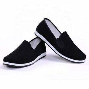 Chinese Kung Fu/Tai Chi Shoes Black Slip on Canvas Slippers Men's and Women's
