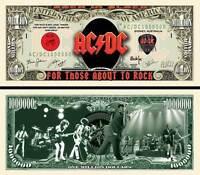 AC/DC BILLET MILLION DOLLAR US! ANGUS YOUNG Bon Scott Logo Hard Rock Heavy Métal