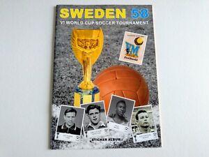 SWEDEN 58 WORLD CUP SOCCER 1958 ORIGINAL COMPLETE EMPTY ALBUM + 286 STICKERS
