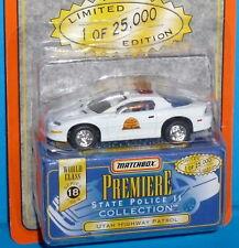 1997 MATCHBOX Premiere Chevy Camaro Utah Highway Patrol Real Riders 1 of 25,000