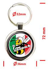 Piaggio, Vespa Schlüsselanhänger, aus Zinklegierung und 3D Epoxidharz Logo, Bild