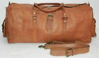 Leather Real Travel Duffel & Luggage Bag personalized Gym Weekend Men Handmade
