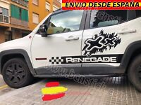 Kit 2x Laterales Vinilos Pegatinas Decal Stickers Coche 4x4 Jeep Renegade 134x58
