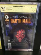 STAR WARS DARTH MAUL 1 CBCS CGC SS 9.6 SIGNED BY RAY PARK