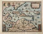 Theodore de Bry Caribbean Florida Columbus Map 1514 Canson Montgolfier Ingres