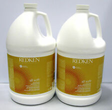 Redken All Soft Shampoo and Conditioner Gallon Set Duo 128 oz Argan Oil Infused