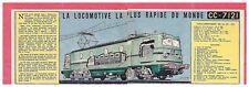 1954 DOCUMENT (ref Lim 0300) TRAIN LOCOMOTIVE CC 7121   2 pages