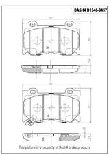 Disc Brake Pad Set-Sport Front Dash 4 Brake CD1346