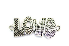 5pc Silver Love Bracelet Connector Charms 1-3 day shipping