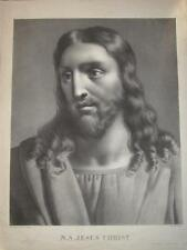 Grande Litho Portrait JESUS CHRIST 52x43cm GESU CRISTO CATHOLIQUE CHRETIEN 1820