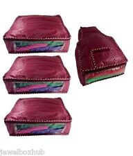 COMBO 3 SAREE SHIRTS SUITS GARMENT COVERS AND 1 BLOUSE COVER STORAGE BAGS CASE