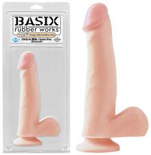 Gode ventouse réaliste Basix Rubber Works - 20 cm