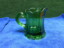 "3"" mini pitcher Green depression glass. Nice condition"