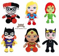 Superhero Plush Bat Girl Wonder Woman Harley Quinn Poison Ivy Cat Soft Toy 34cm