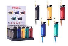 50 Feuerzeuge bunte LED Licht ELEKTRONIK Piezo normale Flamme Feuerzeug