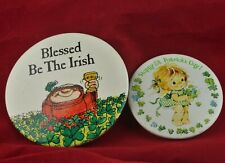 Lot of 2 1980s American Greetings St Patrick'S Day Pins - Sherman On The Mount