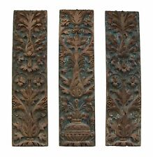 Renaissance Carved & Painted Fruitwood Panels - Signed - France - 16th Century