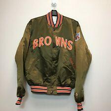 Vintage Cleveland Browns NFL Starter Satin Jacket 90s Rare Pro Line Mens XL