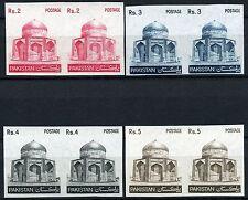 Pakistan 1979 Freimarken Mausoleum 505, 507-09 in Ungezähnten Paaren ** MNH