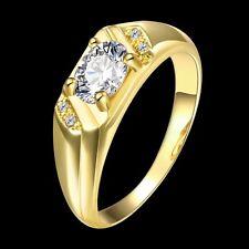 New 18K Gold GP Lady's Swarovski Crystal Wedding Engagement Band Ring Size 10
