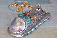 Vintage Battery MT Trademark USAF Gemini X-5 Spacecraft Litho Tin Toy , Japan