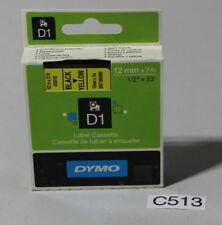 Dymo D1 Schriftband-Kassette 12 mm x 7m Schwarz/Yellow (C513-R43)