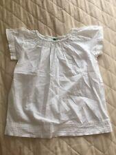 girls white united colors of benetton shirt 3-4 years