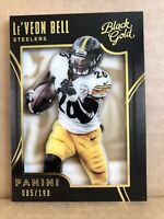2015 Panini Black Gold White Gold #49 Le'Veon Bell 85/199 Pittsburgh Steelers