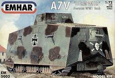 """Gli EMHAR 1/72 A7V """"STURMPANZER"""" tedesco WWI SERBATOIO # 5003"""