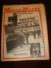MELODY MAKER 1981 MAR 7 GANG OF FOUR MIDGE URE ULTRAVOX ELVIS COSTELLO LENNON
