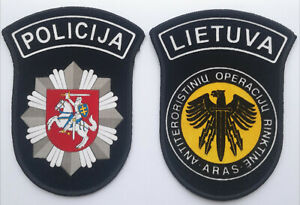 Lithuanian Police Arm Patch Lithuania set of 2 Patches Special Unit