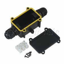 Waterproof IP68 with Terminal Outdoor 2-Cable Plastic Black Junction Box