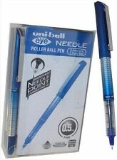 Uni-ball Eye Needle Pen Stainless Steel Point Micro 0.5mm Tip Blue